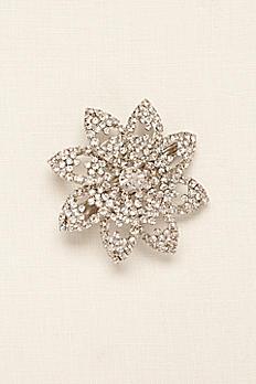 Crystal Flower Clip 10209