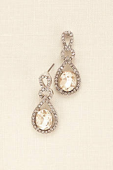 Crystal and Pave Teardrop Earrings