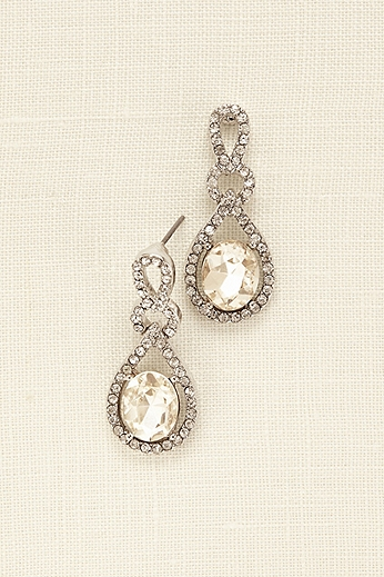 Crystal and Pave Teardrop Earrings 11044237