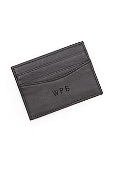 Personalized Leather Magnetic Money Clip Wallet 111-5