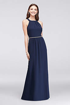 Long A-Line Halter Formal Dresses Dress - Ignite