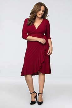 Short Sheath 3/4 Sleeves Mother and Special Guest Dress - Kiyonna