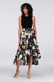 Tea Length Ballgown Tank Formal Dresses Dress - SL Fashions