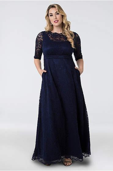 Leona Lace A-Line Plus Size Gown