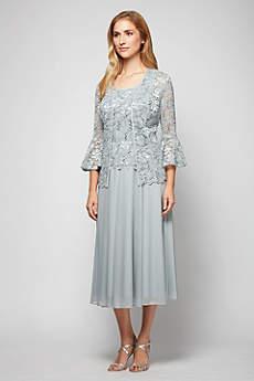Long Jacket Formal Dresses Dress - Alex Evenings