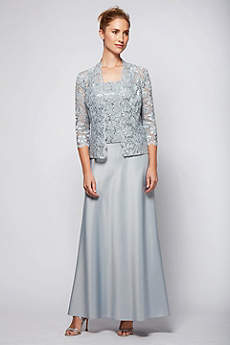 Long Jacket Formal Dresses Dress - Alex Evenings