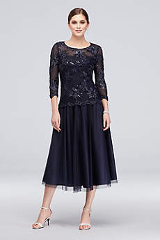 Long Long Sleeves Cocktail and Party Dress - Alex Evenings