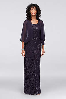 Long Sheath Jacket Formal Dresses Dress - SL Fashions