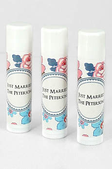 Personalized Floral Pattern Lip Balm