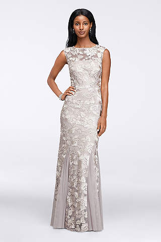 Alex Evenings Sequined Tea-Length Dress