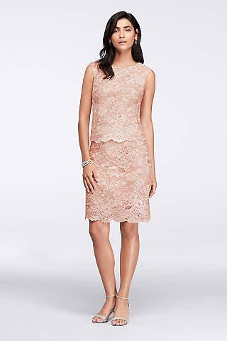 Short Mother of the Bride &amp Groom Dresses  David&39s Bridal