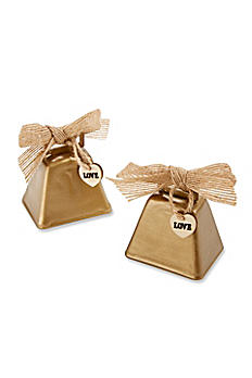 Country Charm Cowbell Kissing Bell Set of 6 12020NA