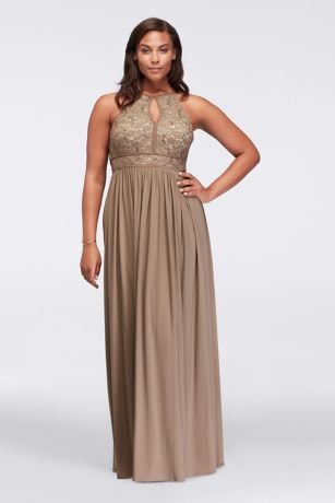 Plus Size Brown Formal Dresses