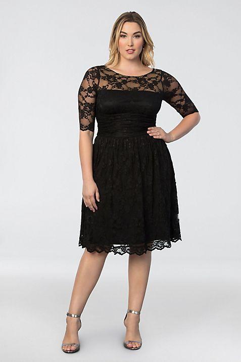 Luna Lace Plus Size Dress | David\'s Bridal