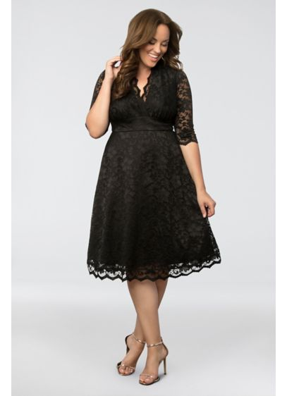 Mademoiselle Lace Plus Size Dress | David\'s Bridal