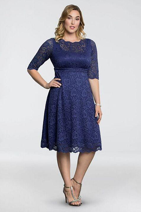 Lacey Plus-Size Cocktail Dress | David\'s Bridal