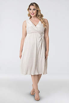 Tea Length Sheath Tank Cocktail and Party Dress - Kiyonna