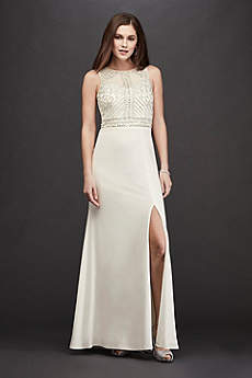 Long Sheath Halter Dress - RM Richards