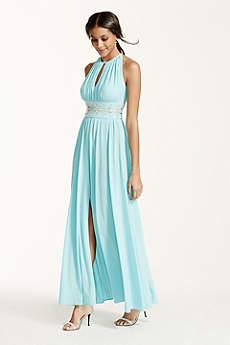 Long A-Line Halter Prom Dress - RM Richards