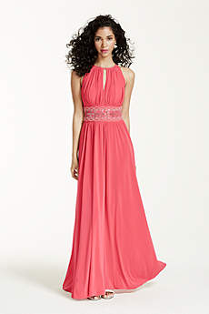 Long A-Line Halter Prom Dress - RM Richards