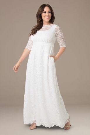 Long Sheath Wedding Dress   Kiyonna