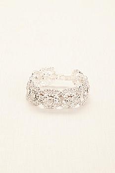 Crystal Pave Circle Bracelet 131748B