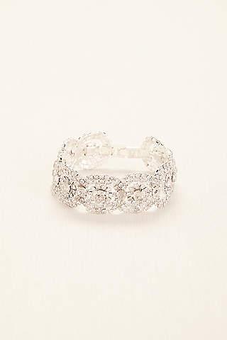 Bridal wedding bracelets bangles davids bridal crystal pave circle bracelet junglespirit Choice Image