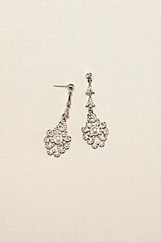 Vintage Pearl Drop Earrings 131785EP