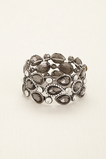 Pear Shaped Stones Pave Rhinestone Bracelet 134323B
