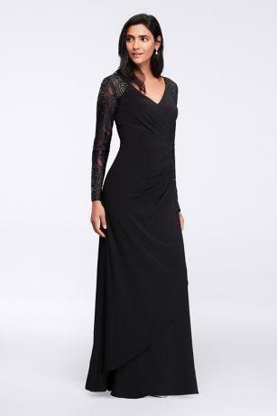 Black evening dress maxi dress