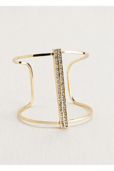 Open Cuff Bracelet with Vertical Crystal Bar 135304BBN1188
