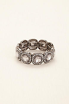 Square Pave Stretch Bracelet 136980B