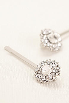 Set of 2 Emerald Cut Pave Hairpins 138199BP