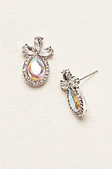 Tear Drop Mini Pineapple Earrings 138666EP