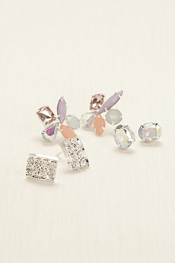Trio Fashion Earring Set 139636TP