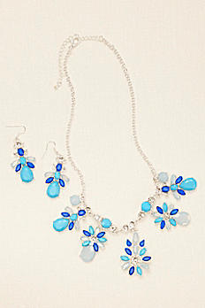 Lux Statement Necklace and Earring Set 139925NE
