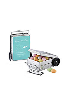 Personalized Suitcase Favor Tins Set of 12 14031NA