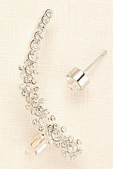 Six Flower Ear Cuff and Stud 140876EPX