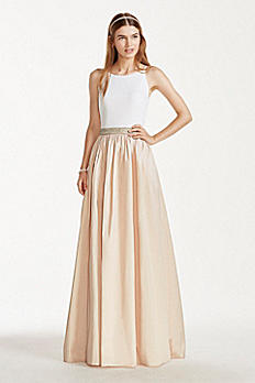 Tank Gown with Beaded Waistband and Ballgown Skirt 141706370