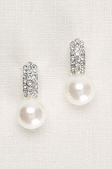 Pearl and Pave Crystal Earrings