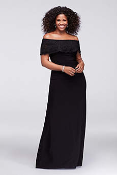 Long A-Line Off the Shoulder Formal Dresses Dress - Xscape