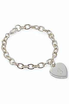 Personalized Heart Tag Charm Bracelet 1510