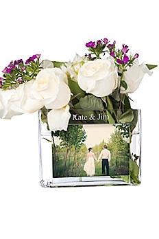Personalized Glass Photo Vase 1528