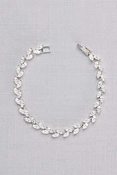 Sparkling Cubic Zirconia Vine Bracelet