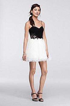 Short Homecoming Dress with Ballerina Skirt 155349