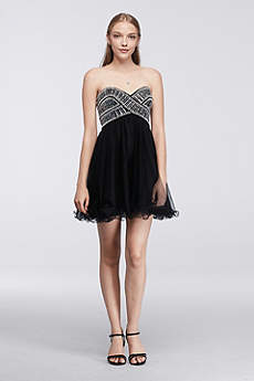 Short Ballgown Strapless Prom Dress - Blondie Nites