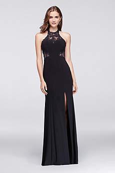Long Sheath Halter Prom Dress - Blondie Nites