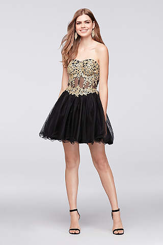 The dress gold black