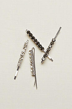 Set of Four Black Bobby Pins 16035148MULS
