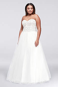 Long Ballgown Strapless Prom Dress - Glamour